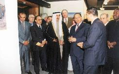 Opening of Badran's Solo Exhibition at Boushahri Art Gallery - Kuwait 2002